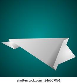 Empty paper sheet. Vector illustration