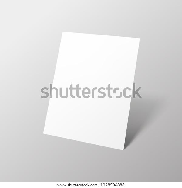 Leeres Papier A4 Vertikalformat Papier Mit Schatten Auf