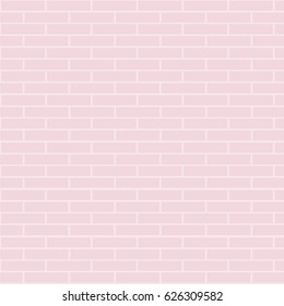 empty pastel pink brick. vector illustration.