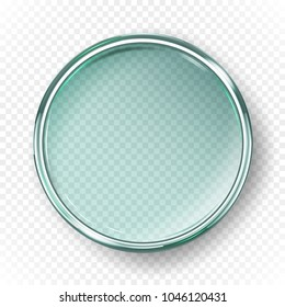 Empty petri dish isolated on transparent background