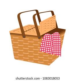 Empty picnic basket icon