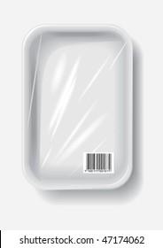 empty plastic container, vector
