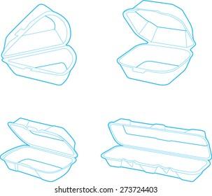 empty plastic container, vector illustration