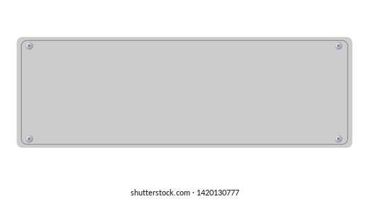 empty plate for your text white background vector