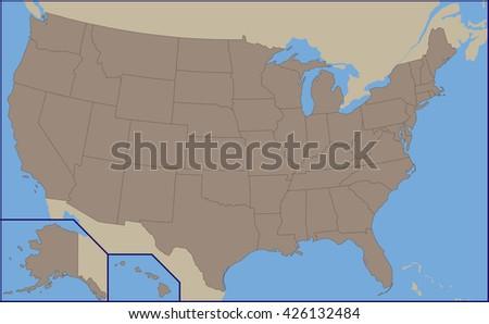 Empty Political Map USA Stock Vector (Royalty Free ... on empty island map, empty canada map, empty florida map, empty u.s. map, empty asia map, empty east coast map, empty pacific map, www.usa map, empty ny map, empty india map, empty mexico map, empty africa map, empty continent map, empty america map, empty italy map, empty quarter map, empty egypt map, empty europe map, empty map of the caribbean, empty georgia map,