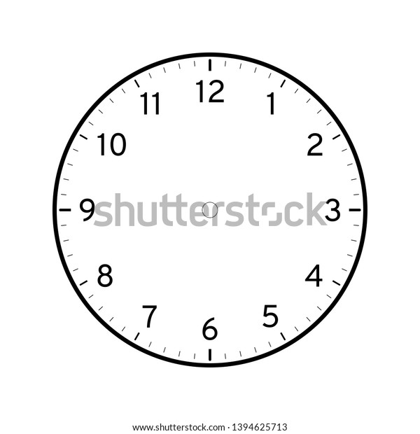picture regarding Free Printable Clock Face Template identify Vacant Printable Clock Facial area Template Isolated Inventory Vector