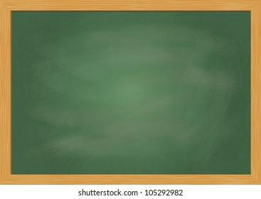 Empty realistic black board in vector format