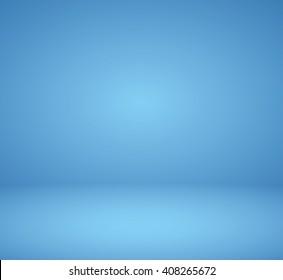 Empty room blue studio background