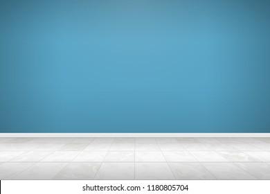 empty room interior with tiles floor