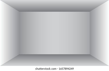 Empty room with white walls. Vector illustration