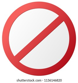empty round red ban sign vector illustration