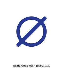 Empty set icon, mathematical symbol