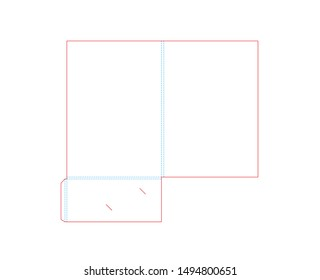 Empty shablon template folder and die cut, stamp