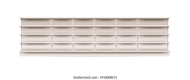 Empty shelf for supermarket showcase and merchandise mock up