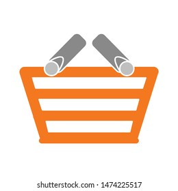 empty shopping basket icon. flat illustration of empty shopping basket vector icon. empty shopping basket sign symbol