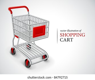 empty shopping cart vector illustration isolated on white background