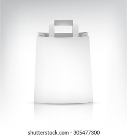 Empty Shopping paper Bag on white for advertising and branding