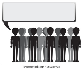 An empty signage with a group of people on a white background