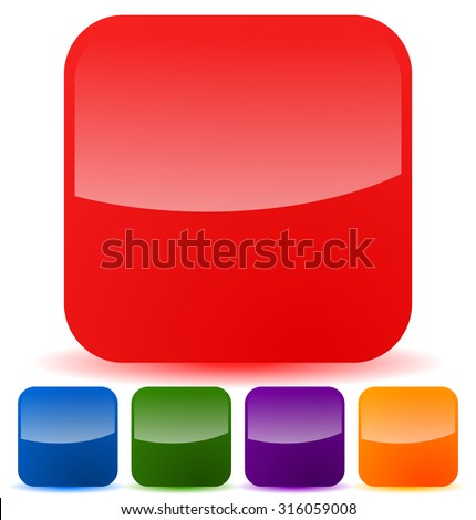 Empty Square Icons Symbol Backgrounds Colorful Stock Vector Royalty