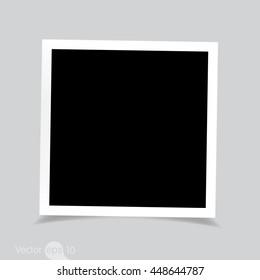 empty square photo frame