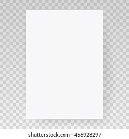 Empty Square Poster Card On Gray Background. A4 Size. Paper Poster, Blank Mockup, Sheet Background, Poster Page, White Note, Vector eps-10.