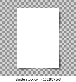 Empty Square, Rectangle Poster Card On Transparent Background. A4 Size. Sheet Background, Paper Poster, Blank Mockup, Poster Page, White Note.