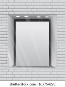 Empty storefront eps10 vector background