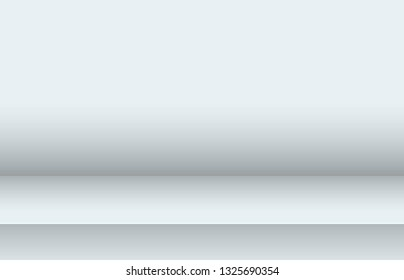 Empty studio background for product display. Shiny metal steel gradient. Empty room with spotlight effect. Showroom shoot render. Template design for advertise product on website, mock up. Vector