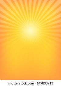 Empty Sun Sunburst Pattern. Vector illustration