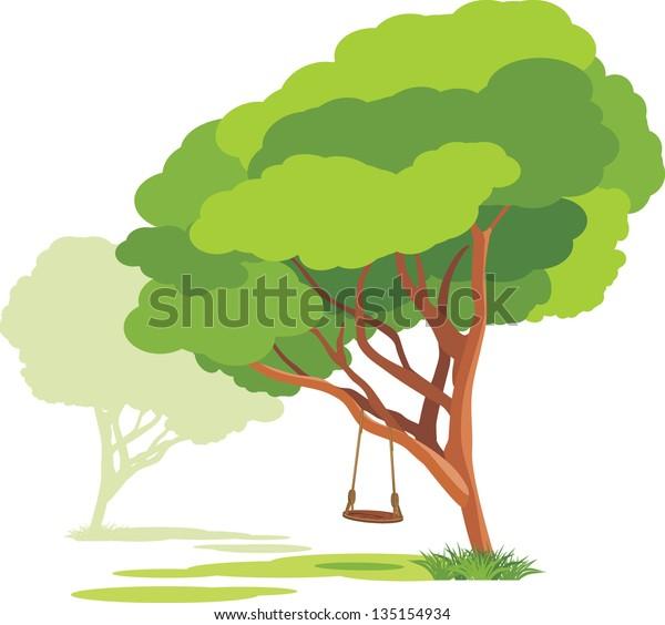 empty-swings-on-spring-tree-600w-1351549