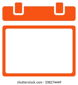 Empty Syllabus Day vector icon. Style is flat symbol, orange color, rounded angles, white background.