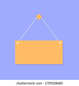 Empty table template isolated of white background. Flat design. Vector illustration.