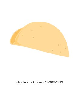 Empty taco shell with no filling vector