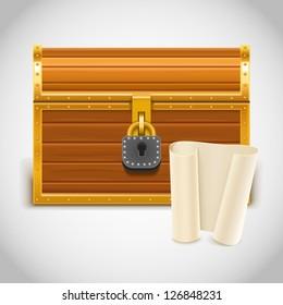 empty treasure chest vector icon xxl