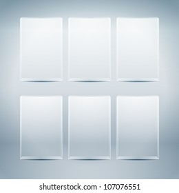 Empty vector glass boxes