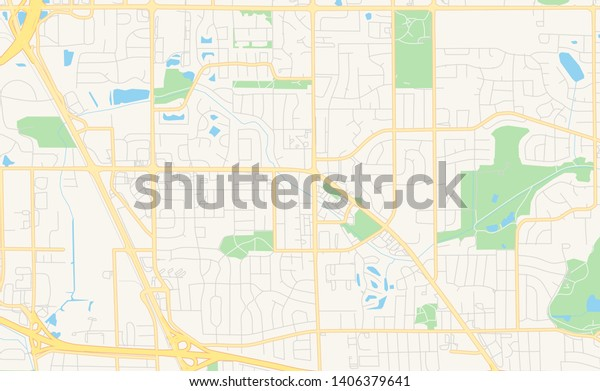 Empty Vector Map Brooklyn Park Minnesota Stock Vector ...
