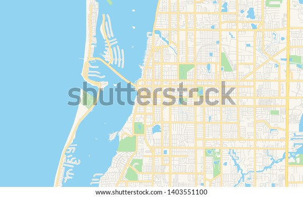 Empty Vector Map Clearwater Florida Usa Stock Vector ...