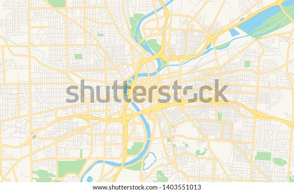picture about Printable Map of Ohio identified as Vacant Vector Map Dayton Ohio United states of america Inventory Vector (Royalty Totally free