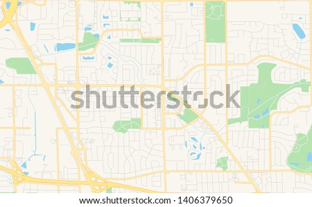 Empty Vector Map Deerfield Beach Florida Stock Vector (Royalty Free on