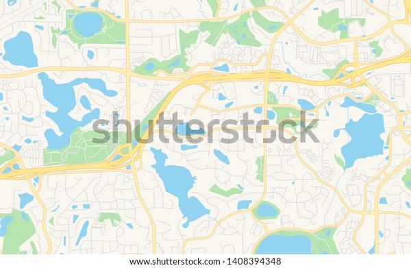 Empty Vector Map Eden Prairie Minnesota Stock Vector
