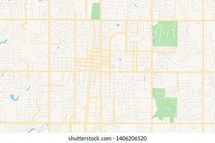 Imágenes, fotos de stock y vectores sobre Oklahoma Road Map ...