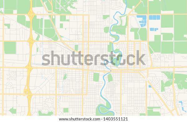 Empty Vector Map Fargo North Dakota Stock Vector (Royalty ...
