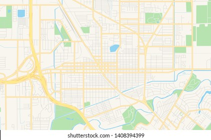 Empty vector map of Harlingen, Texas, USA, printable road map created in classic web colors for infographic backgrounds.