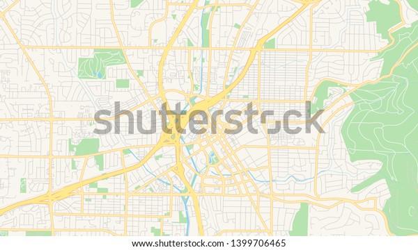 Empty Vector Map Huntsville Alabama Usa Stock Image ...