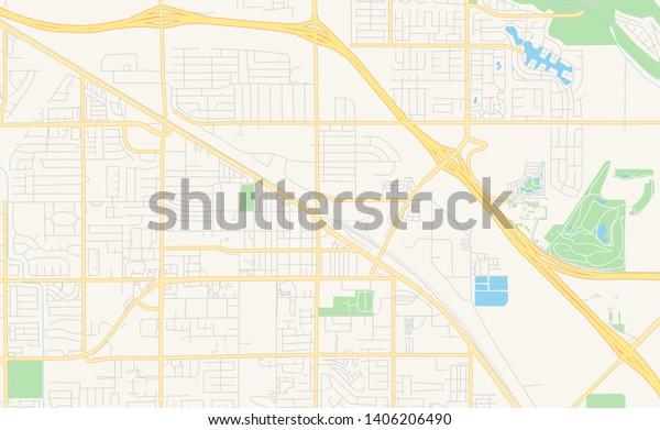 Map Of California Indio.Empty Vector Map Indio California Usa Stock Vector Royalty