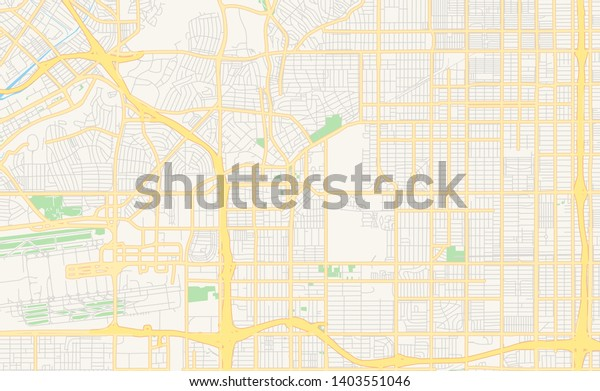 Empty Vector Map Inglewood California Usa Stock Vector ...