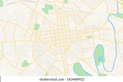 Empty vector map of Lancaster, Pennsylvania, USA, printable road map created in classic web colors for infographic backgrounds.