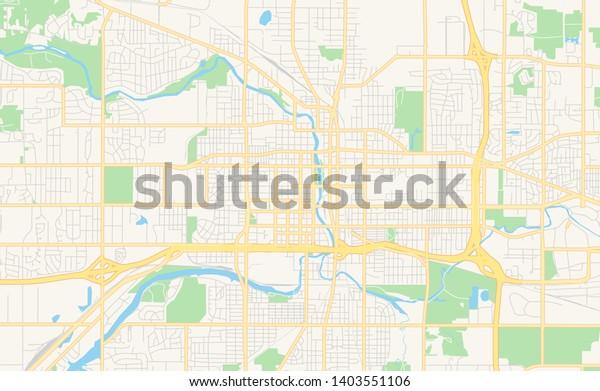 Empty Vector Map Lansing Michigan Usa Stock Vector (Royalty ...