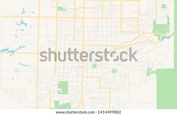 graphic regarding Printable Map of Utah called Vacant Vector Map Logan Utah United Inventory Vector (Royalty
