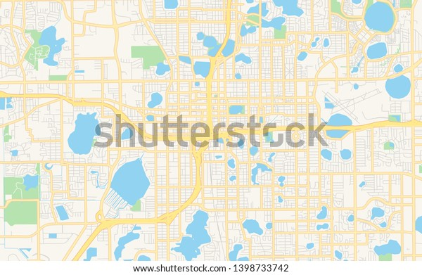 graphic about Printable Map of Florida titled Vacant Vector Map Orlando Florida United states of america Inventory Vector (Royalty